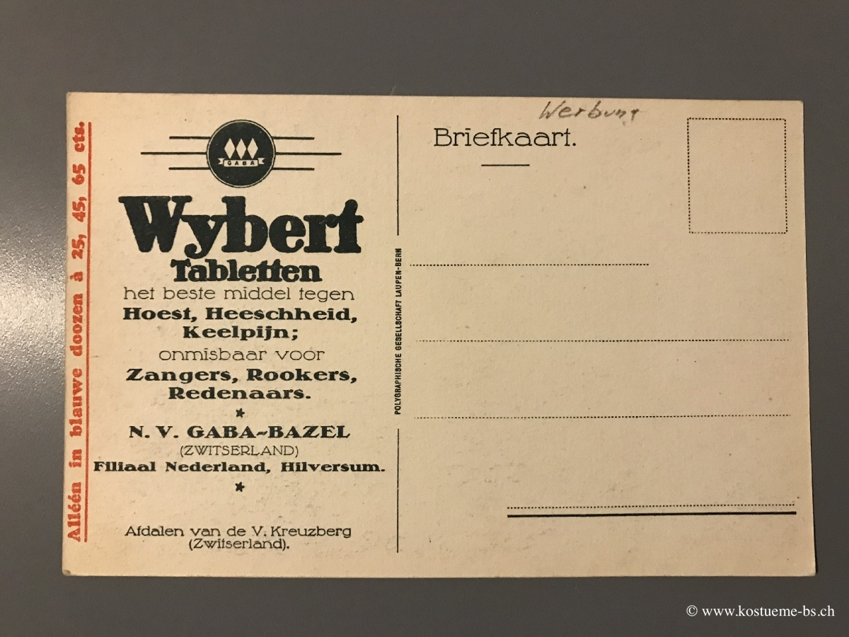 Wybert Postkarte Holland